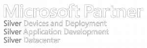 Microsoft Silver Partner Logo for Devices and Deployment, Application Development, and Datacenter