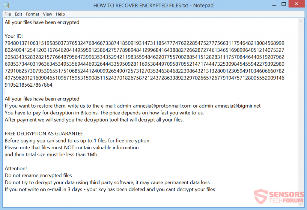 Cyber security example showing how to recover encrypted files