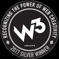 2017 W3 Award for Whitey's Ice Cream Website