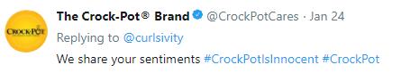 Crock pot is innocent   Crock Pot PR marketing plan