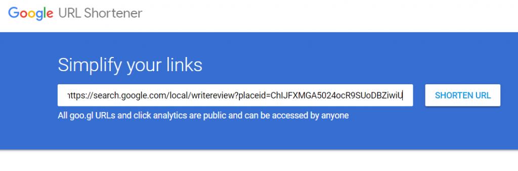 Shorten URL step one