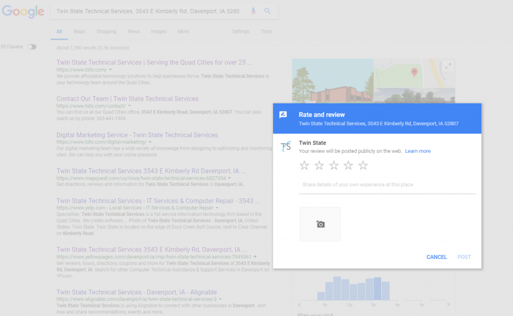 How to create Google Review URL Popup