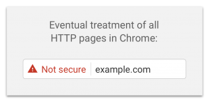 Not Secure warning on a URL from Google Chrome