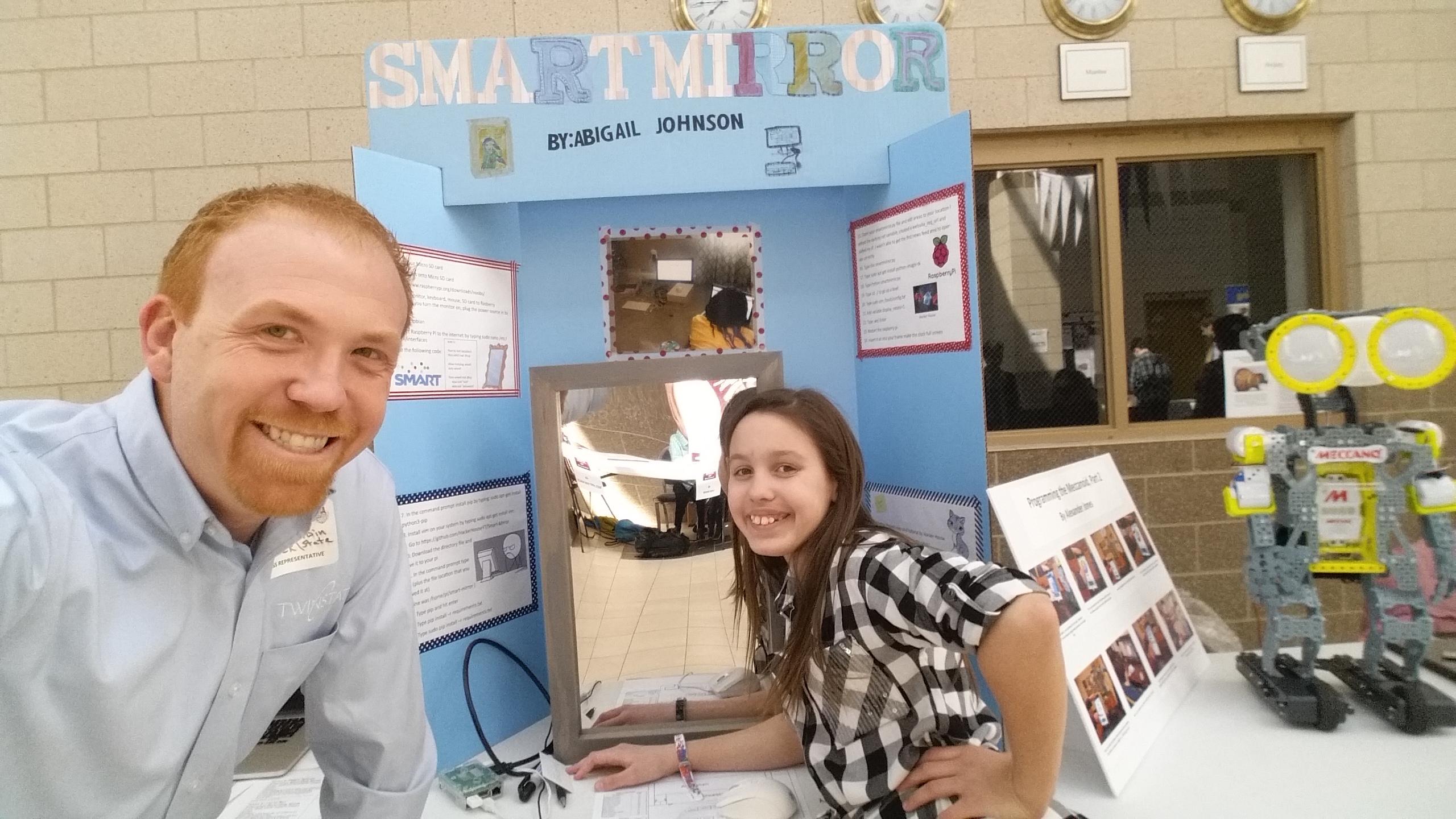 Abigail J at the Rivermont Tech Fair 2018