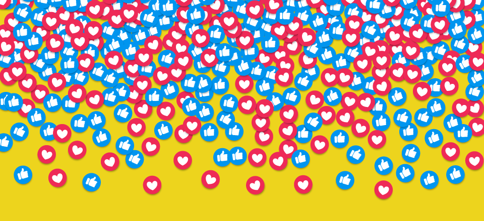 heart and like icon pattern