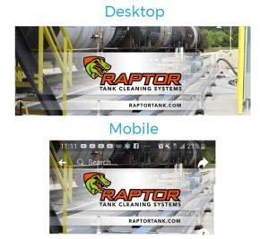Comparison of Facebook banner image scaling on desktop and mobile