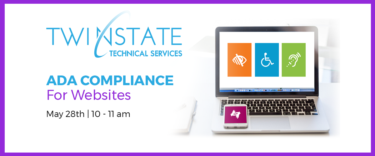 ADA Compliance for websites - May 28th, 10 a.m. to 11 a.m.