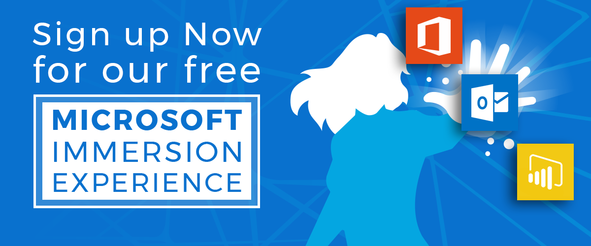 Become a Productivity Pro! May 7th - 10th Microsoft Immersion Experience