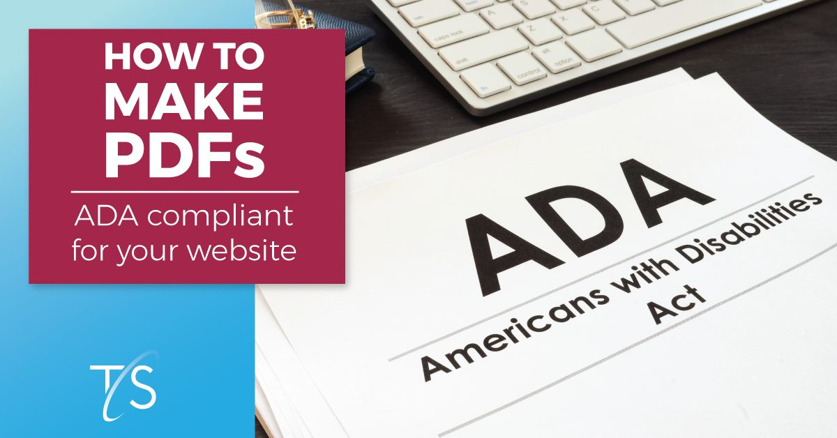 banner image shows ADA compliance papers