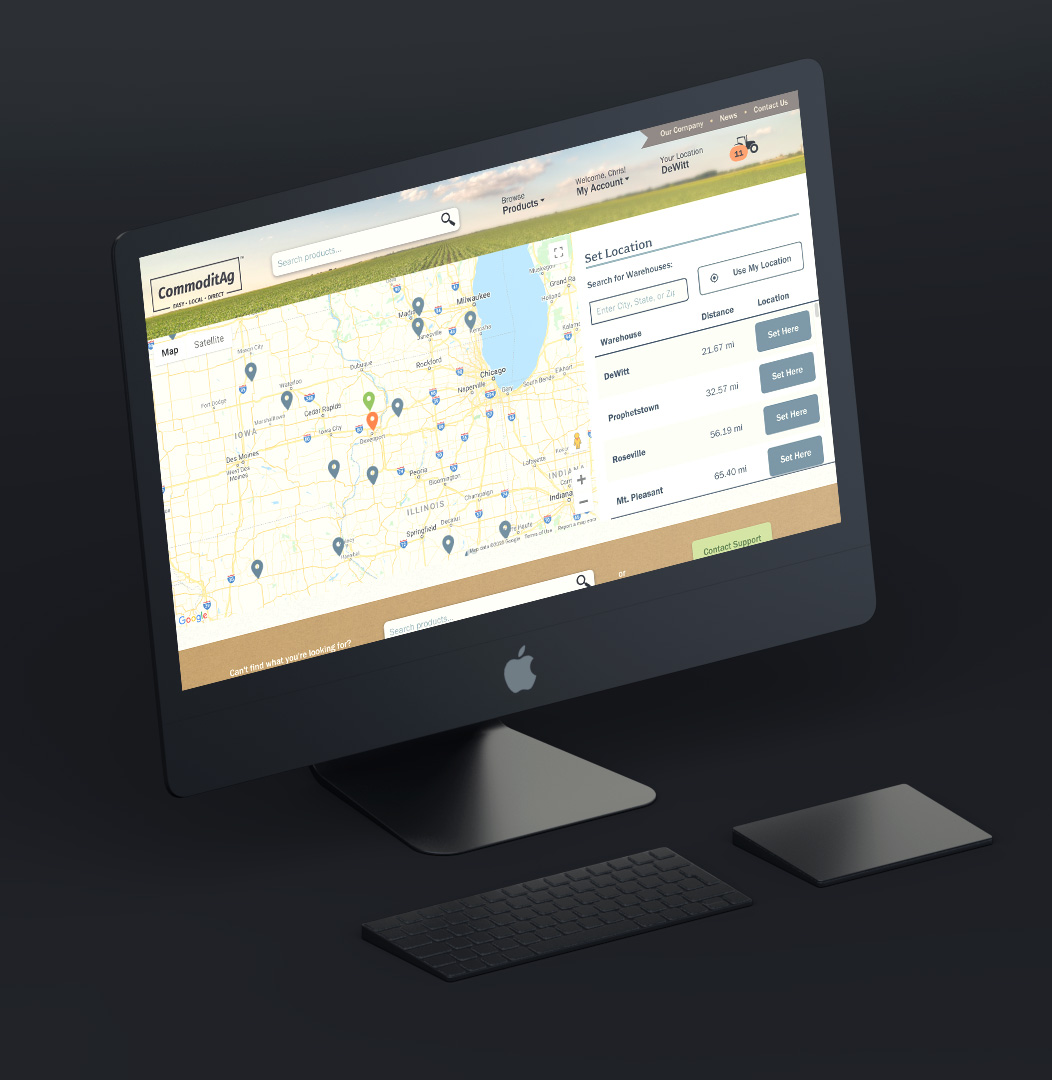 map shown on MAC