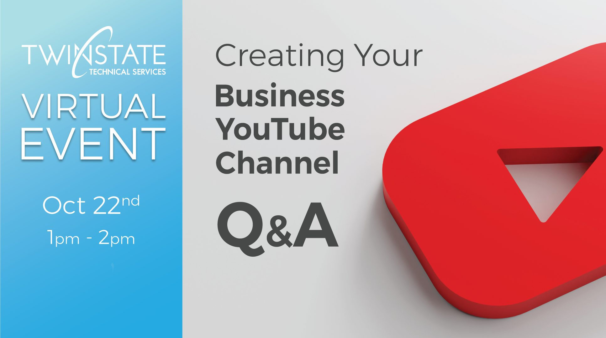 Create your business YouTube channel event