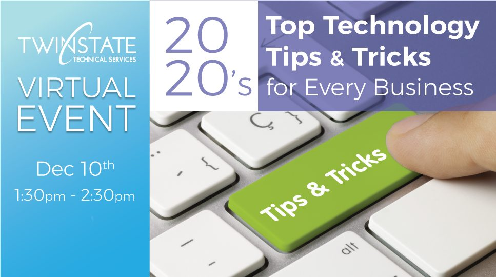 Banner for Tech Tip Event in December